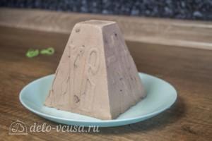 Шоколадная творожная пасха: фото к шагу 10.