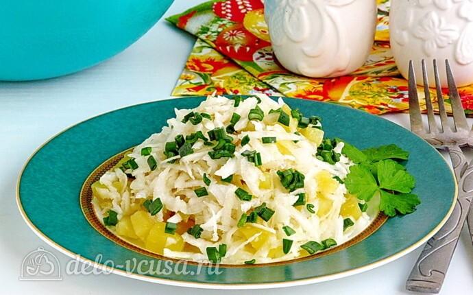 Рецепт картофельный салат с черной редькой
