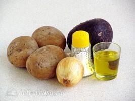 Картофельный салат с черной редькой: Ингредиенты