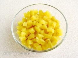 Картофельный салат с черной редькой: фото к шагу 2.