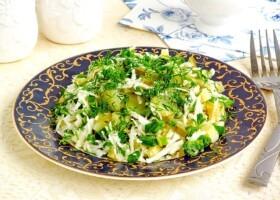 Рецепт салат из черной редьки с картофелем и соленым огурцом