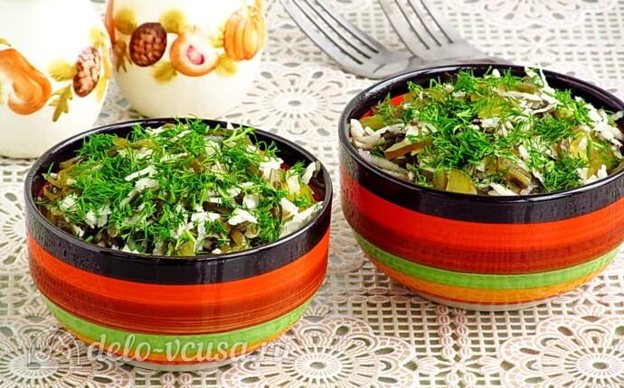 Салат из морской капусты и черной редьки