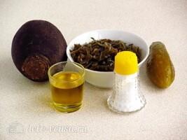 Салат из морской капусты и черной редьки: Ингредиенты