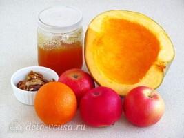 Салат из свежей тыквы и яблока за 10 минут: Ингредиенты