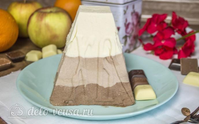 Творожная пасха Три шоколада