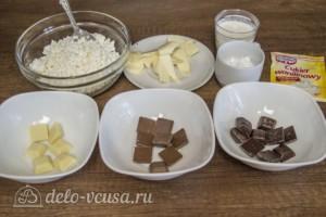 Творожная пасха Три шоколада: Ингредиенты
