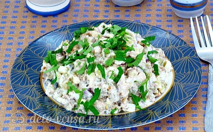 Салат из сайры с яйцом и картошкой