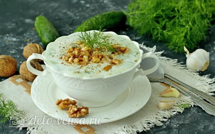 Рецепт болгарский суп таратор с грецкими орехами