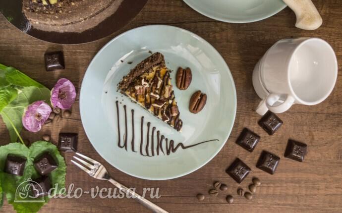 Чизкейк Нью-Йорк с шоколадом и орехом пекан