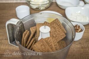 Чизкейк Нью-Йорк с шоколадом и орехом пекан: фото к шагу 1.