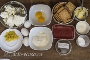 Чизкейк Нью-Йорк с клубничным желе: Ингредиенты