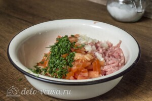 Янтык с мясом и помидорами: фото к шагу 3