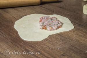 Янтык с мясом и помидорами: фото к шагу 6