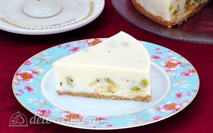 Низкокалорийный йогуртовый торт с бананом и киви