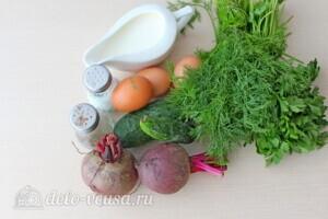 Холодник на кефире: Ингредиенты