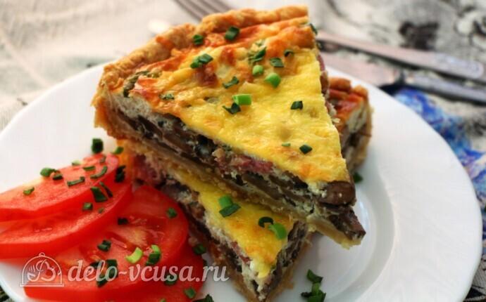 Киш с грибами и беконом: фото блюда приготовленного по данному рецепту