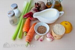 Суп-пюре из свеклы и сельдерея: Ингредиенты