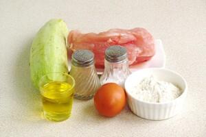 Оладьи из кабачков и курицы: Ингредиенты