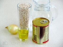 Перловая каша с тушёнкой в мультиварке: Ингредиенты