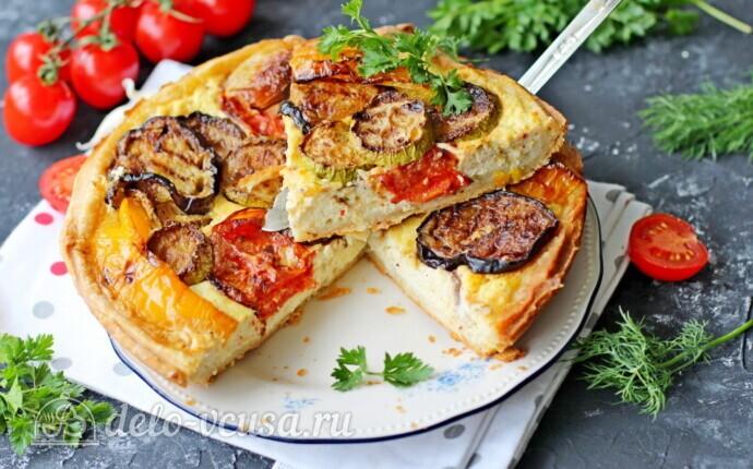 Пирог с рикоттой и овощами гриль