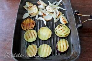Пирог с рикоттой и овощами гриль: фото к шагу 3.