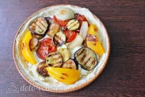 Пирог с рикоттой и овощами гриль: фото к шагу 7.
