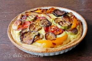 Пирог с рикоттой и овощами гриль: фото к шагу 8.