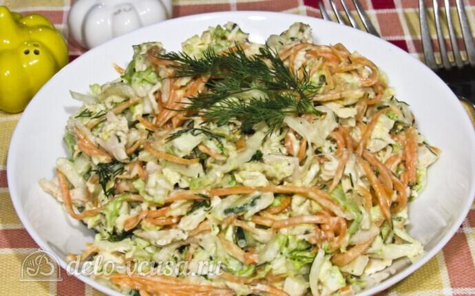 Салат из пекинской капусты и корейской морковки