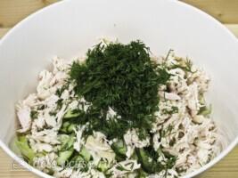 Салат из пекинской капусты и корейской морковки: фото к шагу 4.