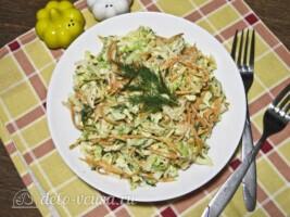Салат из пекинской капусты и корейской морковки: фото к шагу 7.