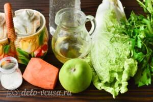Салат из пекинской капусты с яблоком и морковью: Ингредиенты
