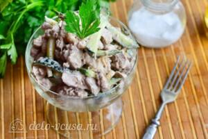 Салат с куриной печенью и свежим огурцом за 20 минут: фото к шагу 8