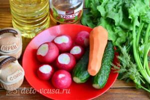 Весенний салат с редиской и морковью: Ингредиенты