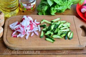 Весенний салат с редиской и морковью: фото к шагу 1.