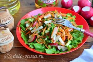 Весенний салат с редиской и морковью: фото к шагу 5.