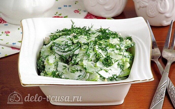 Салат из сельдерея с грецкими орехами