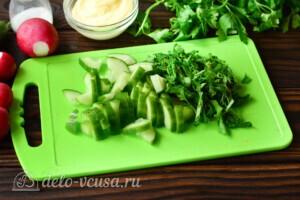 Салат со щавелем, редисом и огурцом: фото к шагу 1