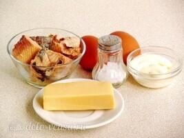 Слоеный салат Дипломат с лососем: Ингредиенты