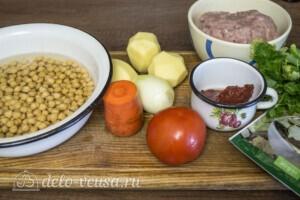 Суп с фрикадельками и нутом: Ингредиенты