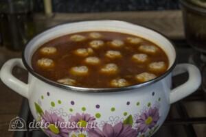 Суп с фрикадельками и нутом: фото к шагу 8.