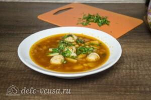 Суп с фрикадельками и нутом: фото к шагу 9.