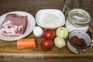Тефтели из свинины в томатном соусе: Ингредиенты