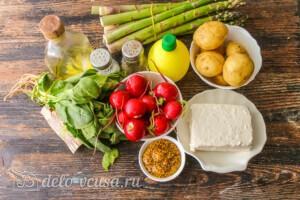 Теплый салат с молодым картофелем и спаржей: Ингредиенты