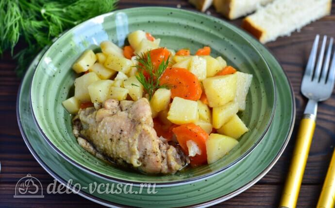 Жаркое из курицы с овощами в мультиварке
