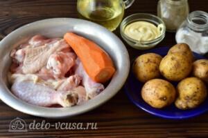 Жаркое из курицы с овощами в мультиварке: Ингредиенты