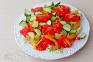 Греческий салат с пекинской капустой: фото к шагу 4.
