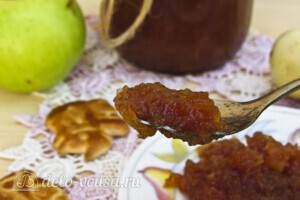 Яблочное повидло с корицей в хлебопечке: фото к шагу 10.