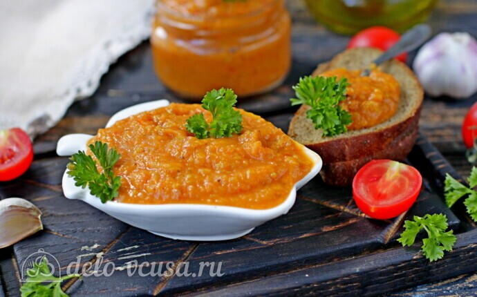 Ленивая кабачковая икра в рукаве для запекания: фото блюда приготовленного по данному рецепту
