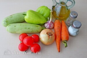 Ленивая кабачковая икра в рукаве для запекания: Ингредиенты