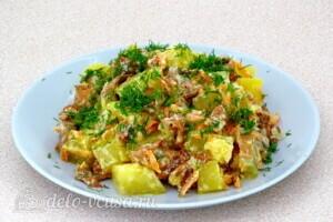 Картофель с лисичками в сметане: фото к шагу 17.